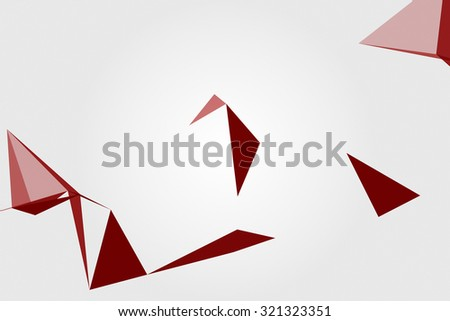 geometrical abstraction on white background
