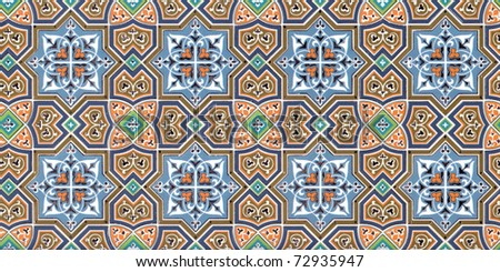 Geometrical ornament wallpaper - stock photo