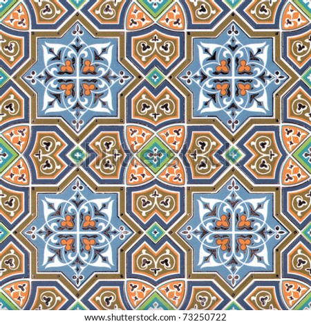 Geometrical ornament wallpaper
