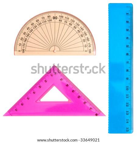 Geometrical set isolated on a white background - stock photo