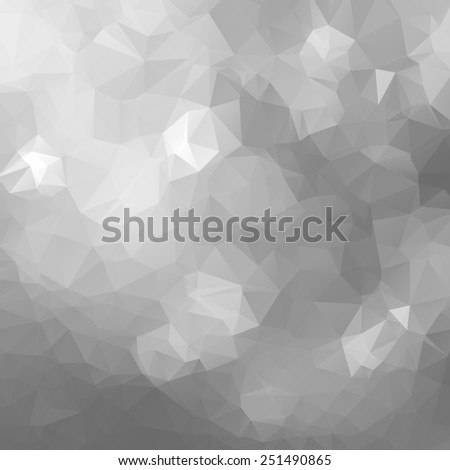 Geometrical triangular silver background.  - stock photo