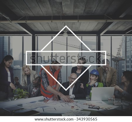 Geometry Frame Graphic Pattern Shape Collection Concept - stock photo