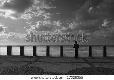 Geometry of Loneliness. - stock photo