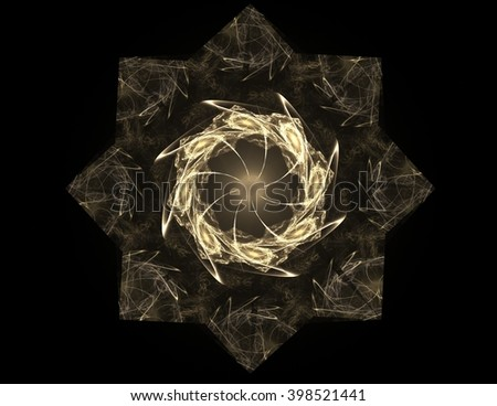 Geometry of Space series. Visually attractive backdrop made of conceptual grids curves and fractal elements suitable as element for layouts on physics mathematics technology science and education. - stock photo