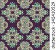 geometry paisley vintage floral seamless pattern, raster version - stock vector