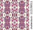 geometry vintage floral seamless pattern. Raster version - stock photo