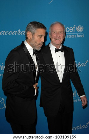 George Clooney and Jerry Weintraub at the 2009 UNICEF Ball Honoring Jerry Weintraub, Beverly Wilshire Hotel, Beverly Hills, CA. 12-10-09