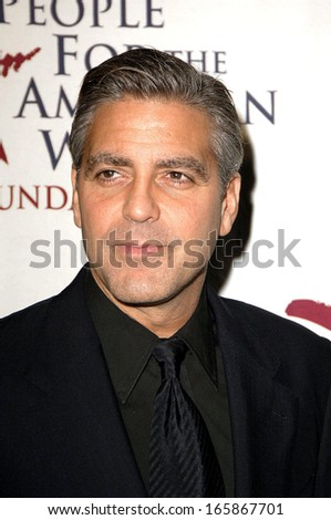 George Clooney at People for the American Way LA Spirit of Liberty Celebration, Beverly Hilton Hotel, Los Angeles, CA, September 26, 2005
