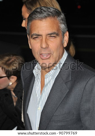 "George Clooney at the Los Angeles premiere of his new movie ""The Descendants"" at the Samuel Goldwyn Theatre in Beverly Hills. November 15, 2011  Beverly Hills, CA Picture: Paul Smith / Featureflash"