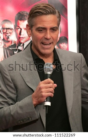 "George Clooney at the ""Ocean's Thirteen"" Handprint and Footprint Ceremony honoring George Clooney, Brad Pitt, Matt Damon, and Jerry Weintraub. Grauman's Chinese Theatre, Hollywood, CA. 06-05-07"