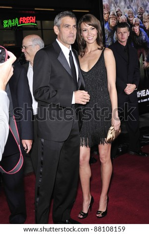 "George Clooney & girlfriend Sarah Larson at the world premiere of his new movie ""Leatherheads"" at Grauman's Chinese Theatre. March 31, 2008  Los Angeles, CA Picture: Paul Smith / Featureflash"