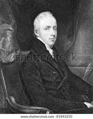 George Howard (1773-1848). Engraved by T.A.Dean and published in National Portrait Gallery Of Illustrious And Eminent Personages encyclopedia, United Kingdom, 1847. - stock photo