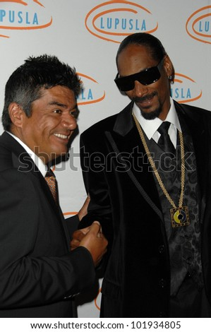 George Lopez and Snoop Dogg  at the  10th Annual Lupus LA Orange Ball, Beverly Wilshire Hotel, Beverly Hills, CA. 05-06-10 - stock photo