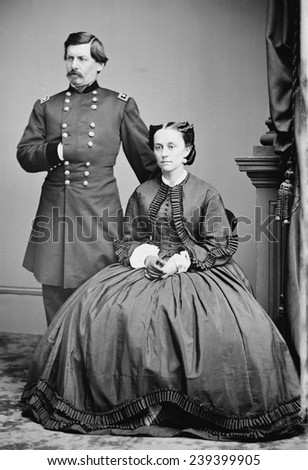 George McClellan and his wife, Ellen Mary Marcy in 1862.