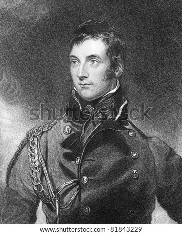 George Murray (1772-1846). Engraved by H.Meyer and published in The National Portrait Gallery Of Illustrious And Eminent Personages encyclopedia, United Kingdom, 1840. - stock photo