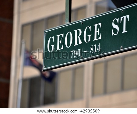 George street sign - stock photo