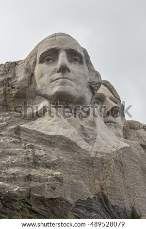 George Washington and Thomas Jefferson At Mount Rushmore