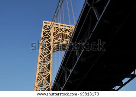 George Washington Bridge connecting New York and New Jersey - stock photo
