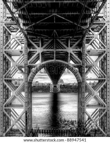 George Washington Bridge unique perspective - stock photo