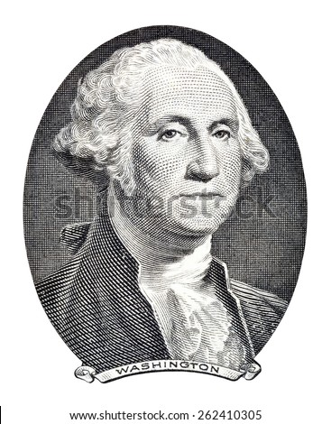 George Washington close-up. - stock photo