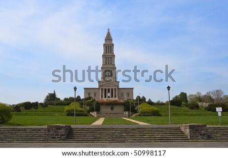 George Washington Masonic National Memorial in Alexandria, VA, USA. - stock photo