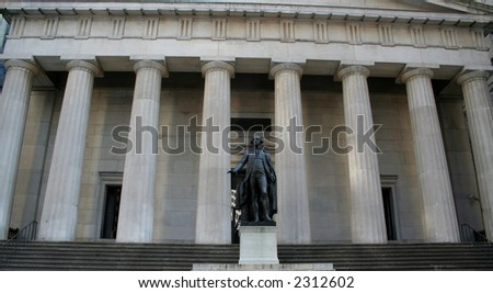 George Washington monument on Wall Street New York Stock Exchange