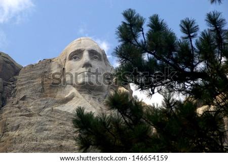 George Washington - Mt. Rushmore - stock photo