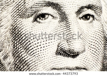 George Washington on a one dollar bank note - stock photo