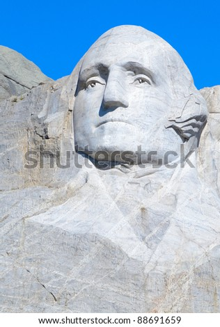 George Washington on Mount Rushmore - stock photo