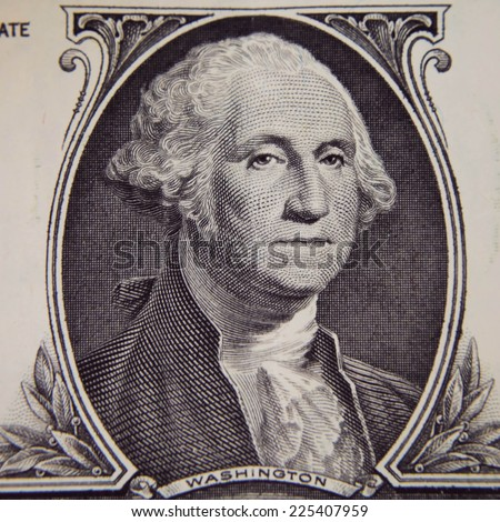 George Washington on one dollar bill