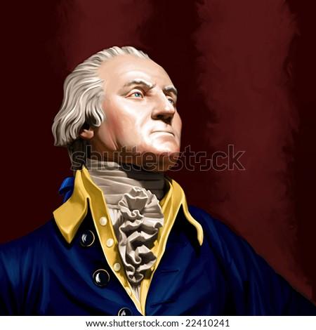 George Washington Painting - stock photo