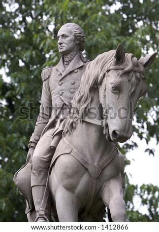 George Washington Statue - stock photo
