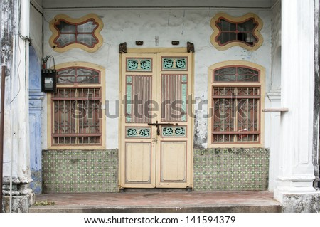 Georgetown in Penang UNESCO Heritage Area in Malaysia - stock photo