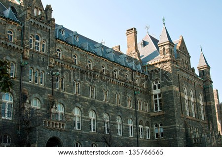 Georgetown university in Washington DC, USA - stock photo