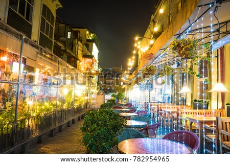 Georgia - Tbilisi. Christmas and New 2018 year  illumination on the street of historical centre of Tbilisi, capita city of Republic of Georgia in Caucasus region. 28.12.1017