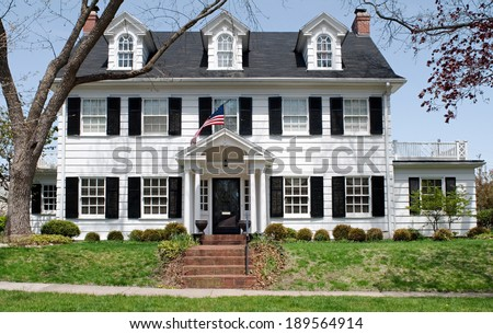 Georgian Colonial House Stock Photo Royalty Free 189564914