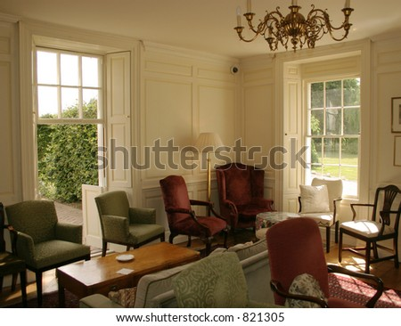 High Quality Georgian Country Manor House Interior Lounge