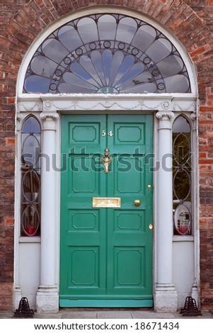 Georgian Door, Dublin Ireland. - stock photo