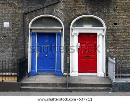 Georgian Doors Dublin - stock photo