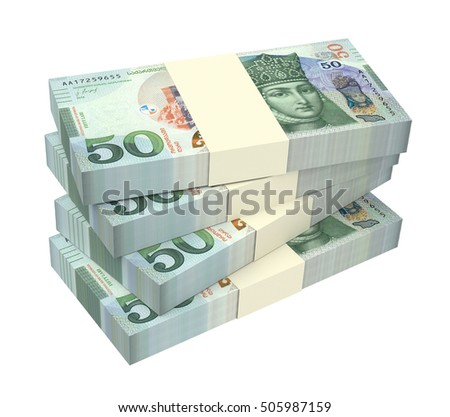 Georgian lari bills isolated on white background. 3D illustration.
