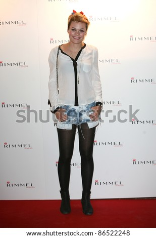 Georgie Okell arriving for the Rimmel Party, at Battersea Power Station, London. 16/09/2011 Picture by: Alexandra Glen / Featureflash