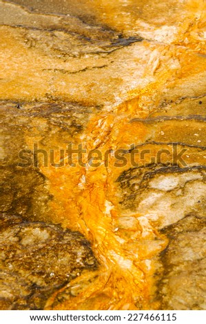Geothermal activity of Yellowstone National Park USA - Midway Geyser Basin - stock photo