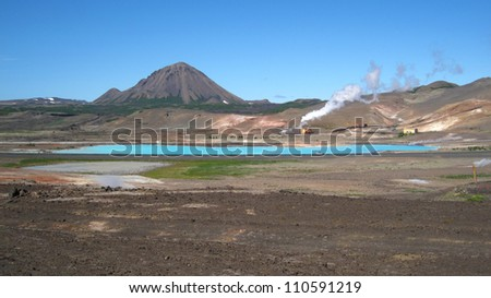 Geothermal Area near Myvatn Lake, Iceland