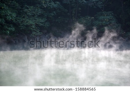 Geothermal heat Fountain Valley - stock photo