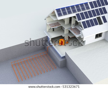 Geothermal stock images royalty free images vectors for Alternative heating systems for homes