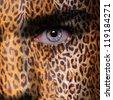 Gepard pattern on face - stock photo