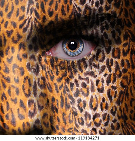 Gepard pattern on face - stock photo