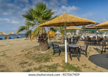 Gerakini Beach, Chalkidiki, Central Macedonia, Greece - stock photo