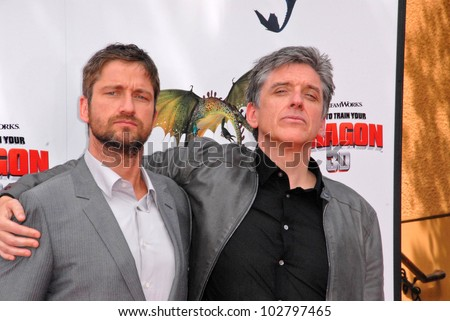 "Gerard Butler, America Ferrera and Craig Ferguson  at the Los Angeles Premiere of ""How To Train Your Dragon,"" Gibson Amphitheater, Universal City, CA. 03-21-10 - stock photo"