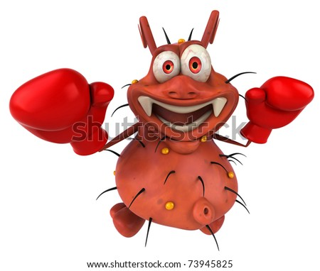 Germ and boxing - stock photo